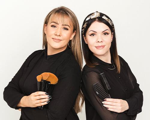 Venla ja Riina meikki & kampaus